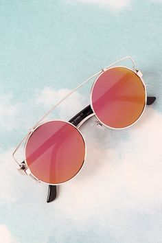 0b89fe9541 Retro Double Bridge Round Frame Sunglasses Round Frame Sunglasses