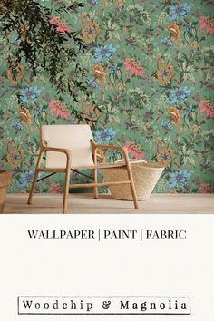 Onism Moss Green Botanical Wallpaper, Statement Wall, Eclectic Design, Contemporary Home Decor, Fabric Online, Fabric Painting, Designer Wallpaper, Wall Murals, Interior Architecture