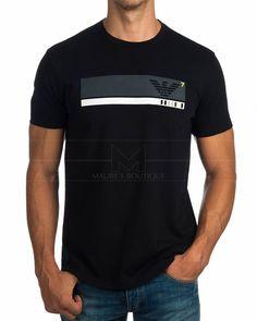 Camiseta EA7 Emporio Armani ® Negro | ENVIO GRATIS Camisa Polo, Camisa Nike, Sport Shirt Design, Sport T Shirt, Cool Tees, Cool Shirts, Emporio Armani, Casual T Shirts, Printed Tees