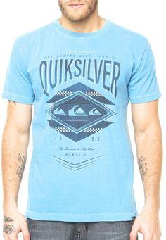 395e047b14ddd Camiseta Quiksilver azul - Compre Agora   Dafiti Brasil