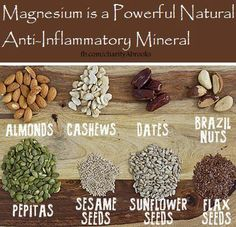 Magnesium is a powerful anti-inflammatory mineral!!! #Food #Health #Healthyliving #Healthyeating #Minerals #Magnesium