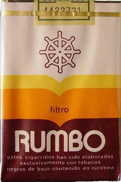 Carteles antiguos de publicidad- Cigarrillos Rumbo