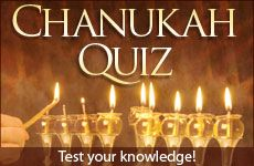 Chanukah Quiz! GREAT for the little ones!