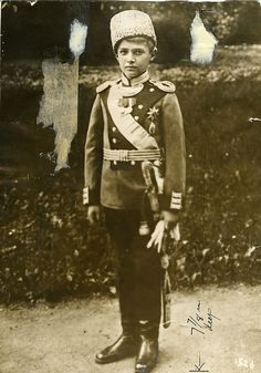 Alexei wearing the uniform of Chief of the 14th Grenadier Regiment, Georgia, 1913