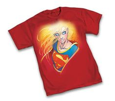 Supergirl Portrait by Michael Turner Red T-Shirt