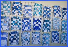 Winter Art Projects, Winter Project, School Art Projects, Christmas Crafts To Make, Christmas Art, Art For Kids, Crafts For Kids, Arts And Crafts, 3rd Grade Art