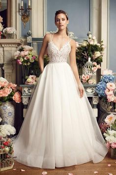 Mikaella #2158.  Available at It's Your Day Bridal Boutique. 1661 Front Road, LaSalle, Ontario 519-978-5003