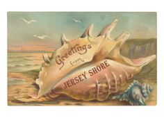 Greetings from Jersey Shore, New Jersey Premium Poster