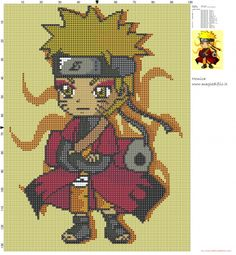 Chibi Naruto cross stitch pattern (click to view)