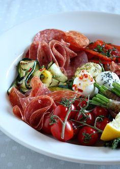 Fresh Antipasto-some beautiful & simple combinations offered here for antipasto.
