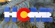 Original state flag painting on wood   Tirle: Colorado State Flag Christmas Ornament Size: 5L x 1.5H  Hand made in the USA  This particular version is