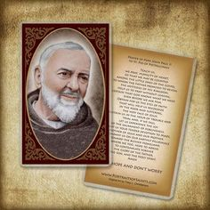 25//PKG SPANISH ST JOHN VIANNEY LAMINATED PRAYER CARDS