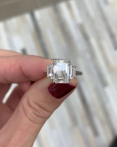 9ec8a8f8c6bff 25 Best Emerald Cut Diamond Engagement Ring images in 2018 | Emerald ...