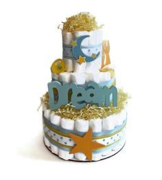Star and Moon Diaper Cake