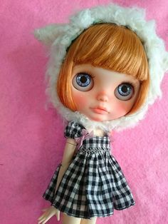 IchiーーーCustom Blythe Howahowa Cat  (USED)  Buy her here:   #blythe #blythedolls #kawaii #cute #rinkya #japan #collectibles #neoblythe #customblythe