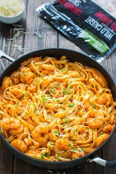 Shrimp Fettucini Recipes, Shrimp Fettuccine, Shrimp Recipes For Dinner, Fish Recipes, Seafood Recipes, Pasta Recipes, Cooking Recipes, Healthy Recipes, Recipe Pasta