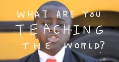 """""""No matter who you are, somebody's learning from you."""" Start your week off with this inspiring video for teachers and students from Kid President: http://youtu.be/RwlhUcSGqgs"""