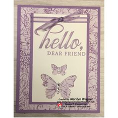 Hello Dear Friend - One of my favourite card designs is monochromatic so I'm pleased to share another one with you today - Hello, Dear Friend!  This card is using the Life Is Grand cling stamp set.  Because the stamps cling so well to the glass blocks, I was able to place the greeting exactly where I wanted it without the stamp falling off the block - BONUS!!