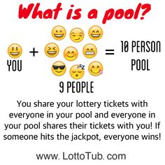 $120 Million divided by a pool of 40 people = $3 Million win for each person. Don't get left out, join a pool today.