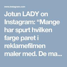 """Jotun LADY on Instagram: """"Mange har spurt hvilken farge paret i reklamefilmen maler med. De maler med den supermatte LADY Pure Color i fargen LADY 4477 Deco Blue;…"""""""