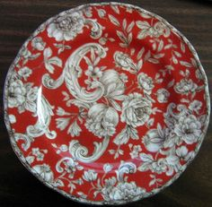 Decorative Dishes -  Decorative Plate - Red Brown Cream Tapestry Rose, $19.99 (http://www.decorativedishes.net/decorative-plate-red-brown-cream-tapestry-rose/)