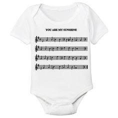 You Are My Sunshine Sheet Music Onesie for Baby
