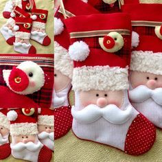 Artesanatos com Moldes: Então é Natal. Christmas Gift Bags, Felt Christmas Ornaments, Christmas Cupcakes, Christmas Sewing, All Things Christmas, Christmas Holidays, Christmas Projects, Diy And Crafts, Christmas Crafts