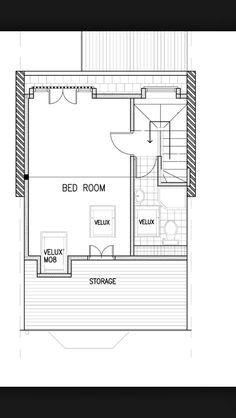 Loft conversion plan edwardian or Victorian terrace with fire escape window Attic Bedroom Designs, Attic Design, Attic Rooms, Attic Bathroom, Attic Playroom, Attic Apartment, Playroom Ideas, Interior Design, Loft Conversion Floor