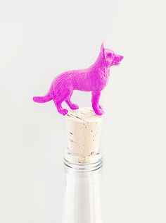 Dress up your wine with these DIY Doggie Wine Toppers!