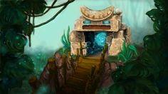 Portal in the jungle, Xenia Zagorodny on ArtStation at https://www.artstation.com/artwork/portal-in-the-jungle