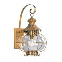 Livex 2222-22 Harbor 1 Light 18 inch Flemish Brass Outdoor Wall Lantern