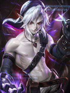 Dark Link.I like em shirless. by sakimichan.deviantart.com on @DeviantArt