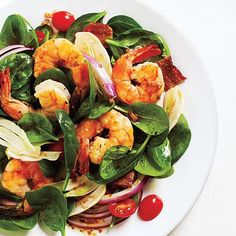 Fennel and Spinach Salad with Shrimp and Balsamic Vinaigrette Recipe   CookingLight.com