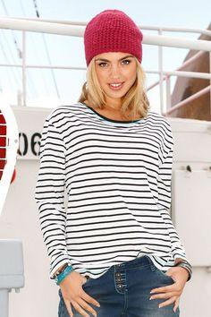 Buy Urban Stripe Pullover Top online | Shop EziBuy