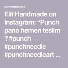 "Elif Handmade on Instagram: ""Punch pano hemen teslim 🥰  #punch #punchneedle #punchneedleart #punchneedleembroidery #punchneedlelove #elemeğigöznuru #elemegi #bursa…"" Punch Needle, Instagram, Handmade, Hand Made, Handarbeit"