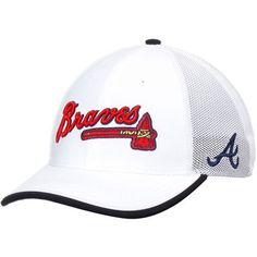 f6bf16aff2d Atlanta Braves Nike Fabric Mix Swoosh Performance Flex Hat - White