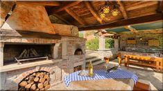 kerti konyhák vidéki háznál kőházak - Szép házak, lakások, 9 Provence, Patio, Outdoor Decor, Sign, Home Decor, Decoration Home, Room Decor, Signs, Home Interior Design