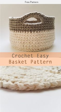 Easy Basket Crochet Free Pattern