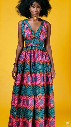 African print dresses can be styled in a plethora of ways. Ankara, Kente, & Dashiki are well known prints. See over 50 of the best African print dresses. African Print Dresses, African Dresses For Women, African Attire, African Wear, African Women, African Prints, African Dashiki, African Inspired Fashion, African Print Fashion