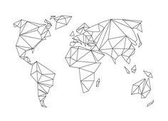 Geometrical World - white - Studio Nahili - Canvas Print
