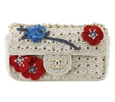 Chanel Applique Flower Clutch