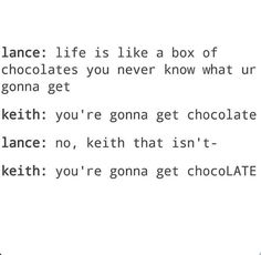 Allura: what the feck is chocolate