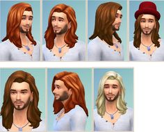 Birksches sims blog: Leonardo Hair for him • Sims 4 Hairs