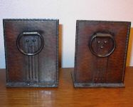 1910 To Rank First Among Similar Products Roycroft Bookends Heavy Hammered Copper & Rivets C Periods & Styles