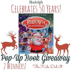 Two readers will be randomly chosen to #win Rudolph The Red-Nosed Reindeer Special Edition Pop Up Book (MSRP $20 each) #HolidayGiftGuide Ends 12/15