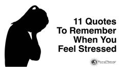 Sometimes we need a little help to remember that this moment will pass. Here are some quotes to remember when you feel stressed...