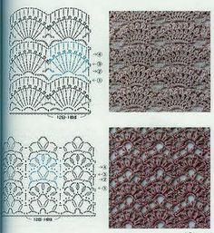 """Russian site, use Google """"automatic translate"""" and browse the site, many, many beautiful motifs and stitch patterns, tutorials for beginners, etc  Crochet patterns, fabric - continued - Vyazanie.Uzory.Shemy"""