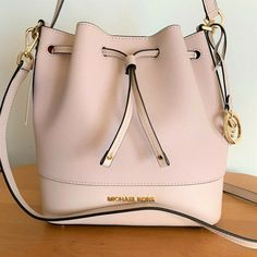 430af146d145 Michael Kors Trista Medium Bucket Bag Ballet Saffiano Leather for sale  online