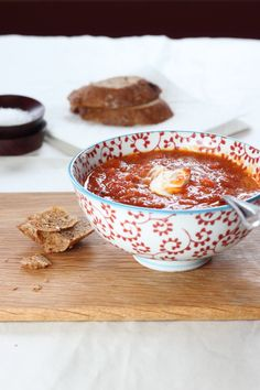 fiery roasted tomato soup. great for a cold rainy day!