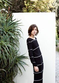 PREMIUM - Striped long dress Skirt Fashion, Fashion Dresses, Fashion  Lookbook, Knit Dress 9c82bac6e05e